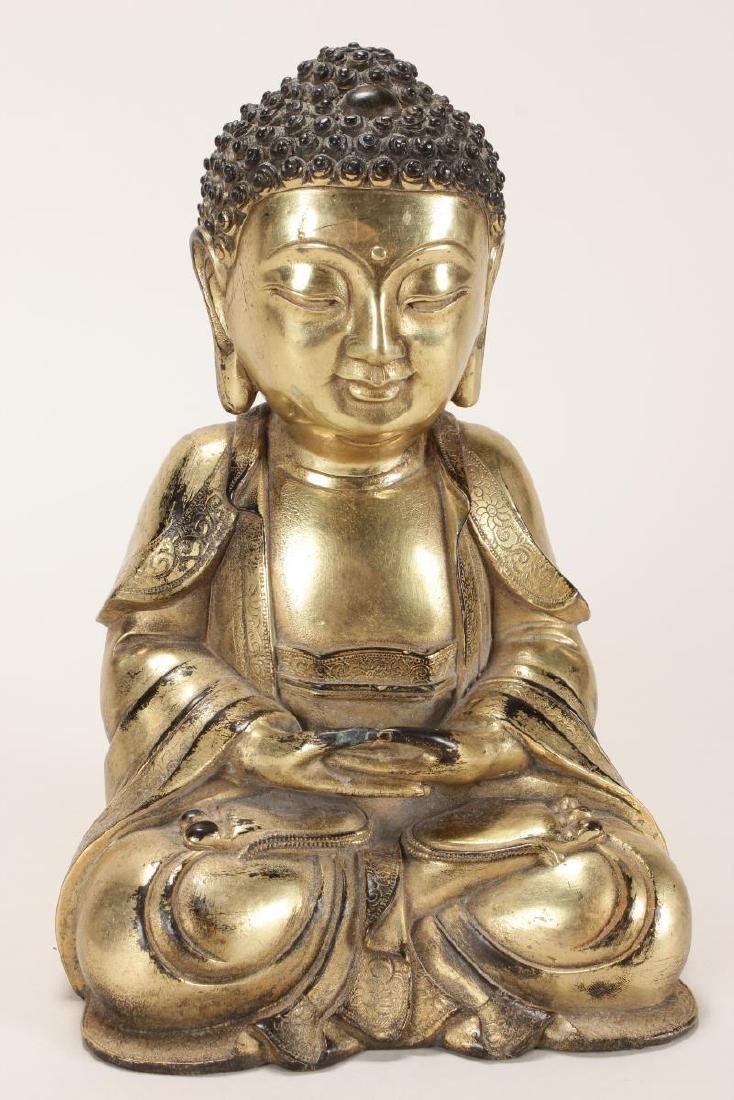 Chinese Gilt Buddha,