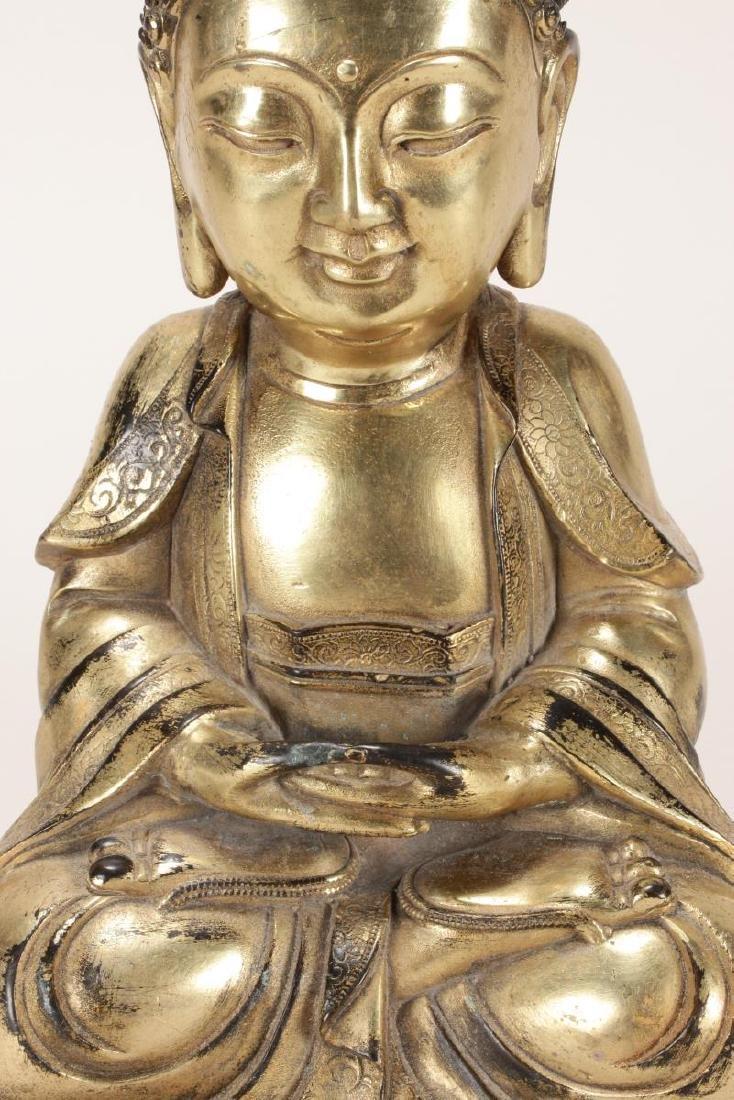 Chinese Gilt Buddha, - 2