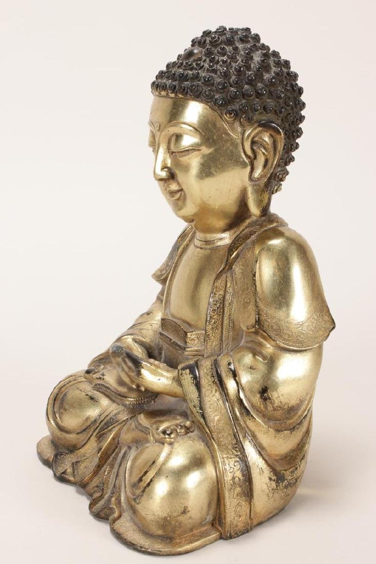 Chinese Gilt Buddha, - 3