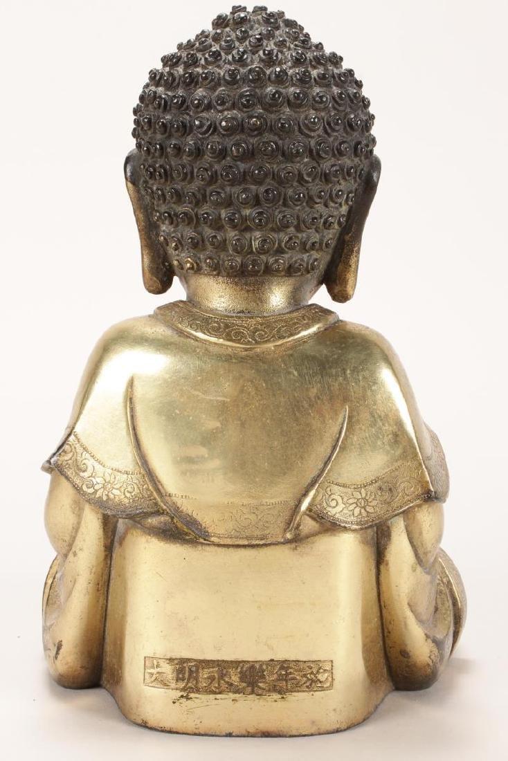 Chinese Gilt Buddha, - 5