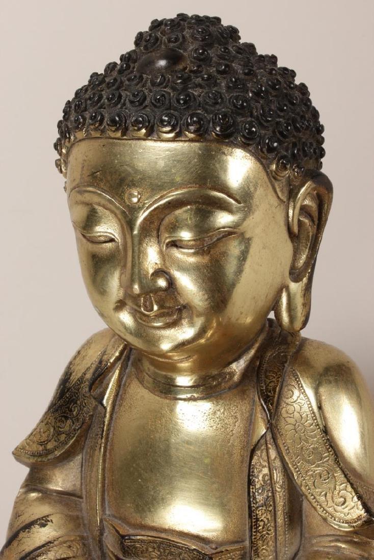 Chinese Gilt Buddha, - 7
