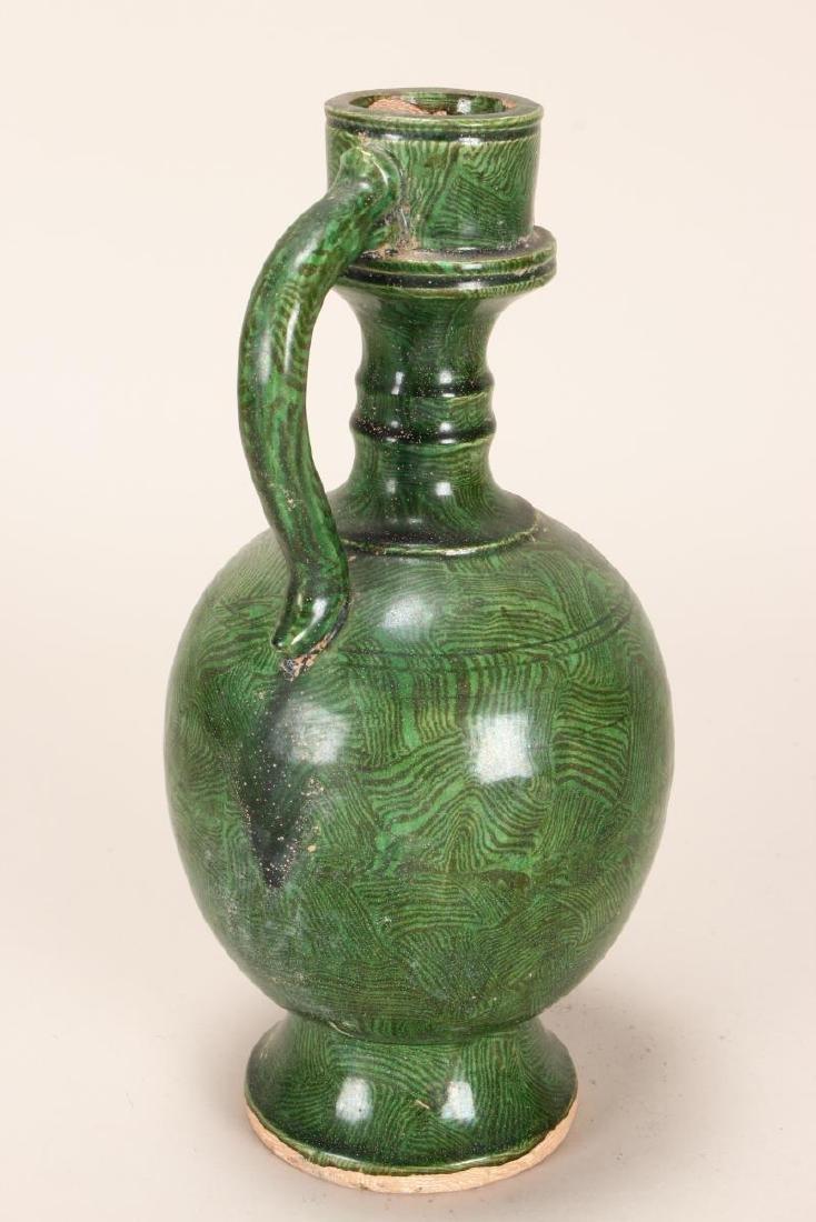 Chinese Pottery Ewer, - 2