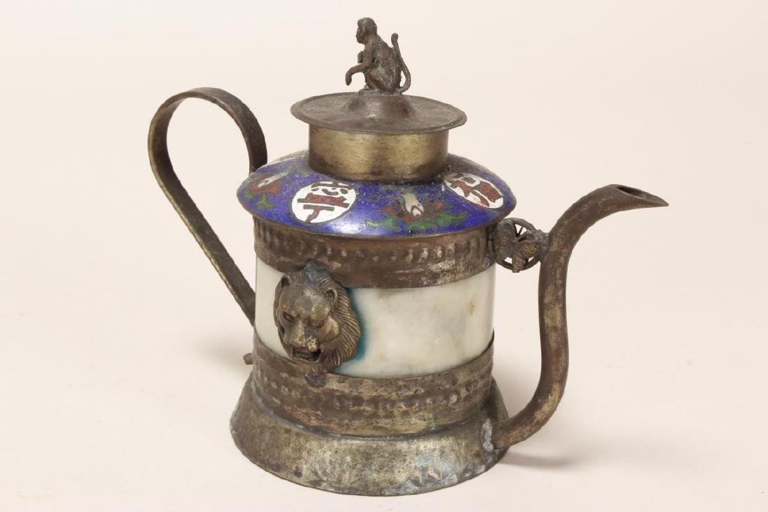 Chinese Petit Cloisonne Teapot,