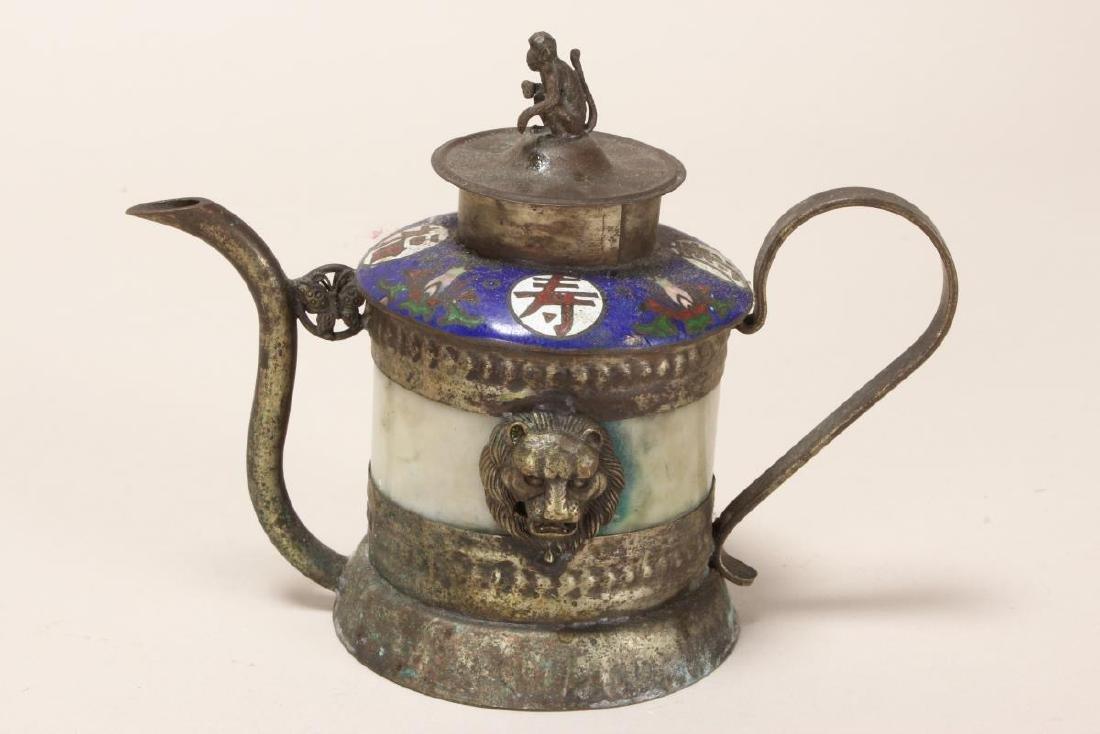 Chinese Petit Cloisonne Teapot, - 2