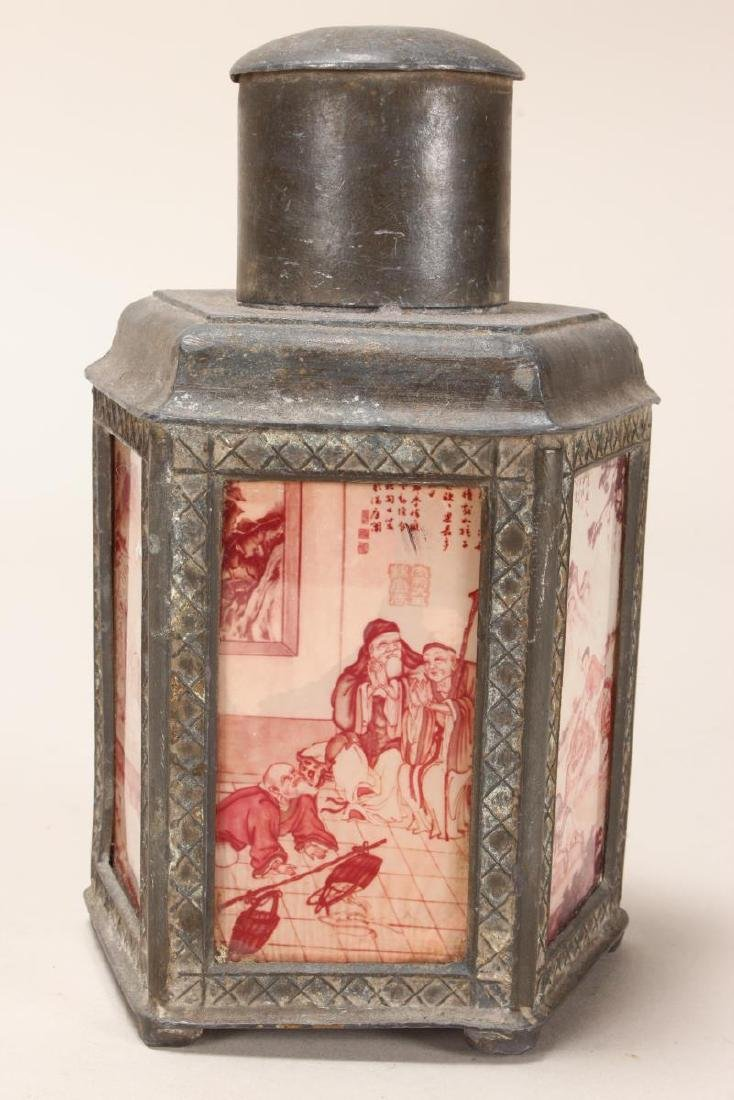 Chinese Facetted Tea Caddy,