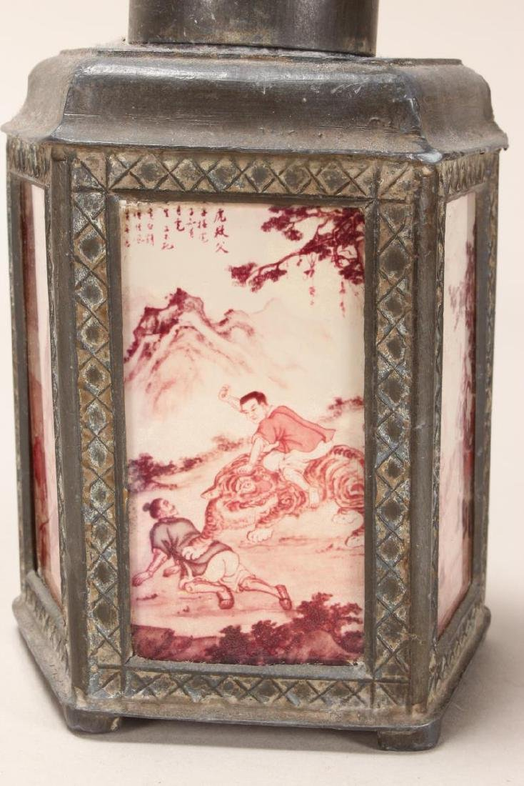 Chinese Facetted Tea Caddy, - 2