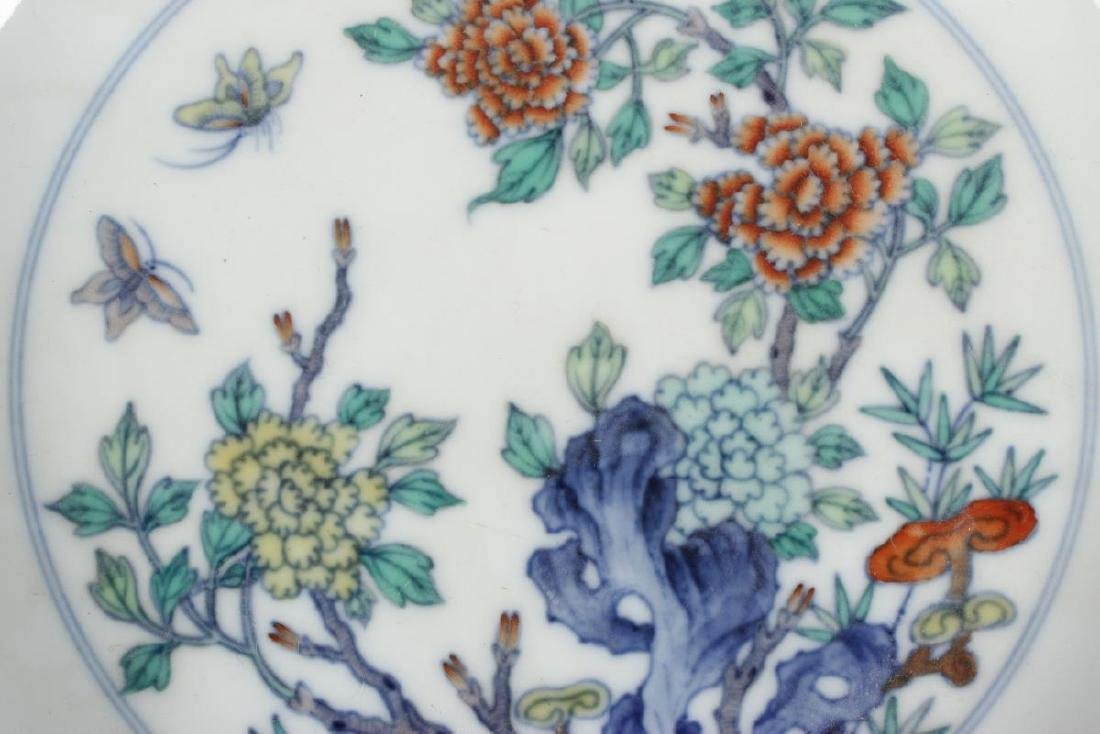 Chinese Doucai Porcelain Bowl, - 3