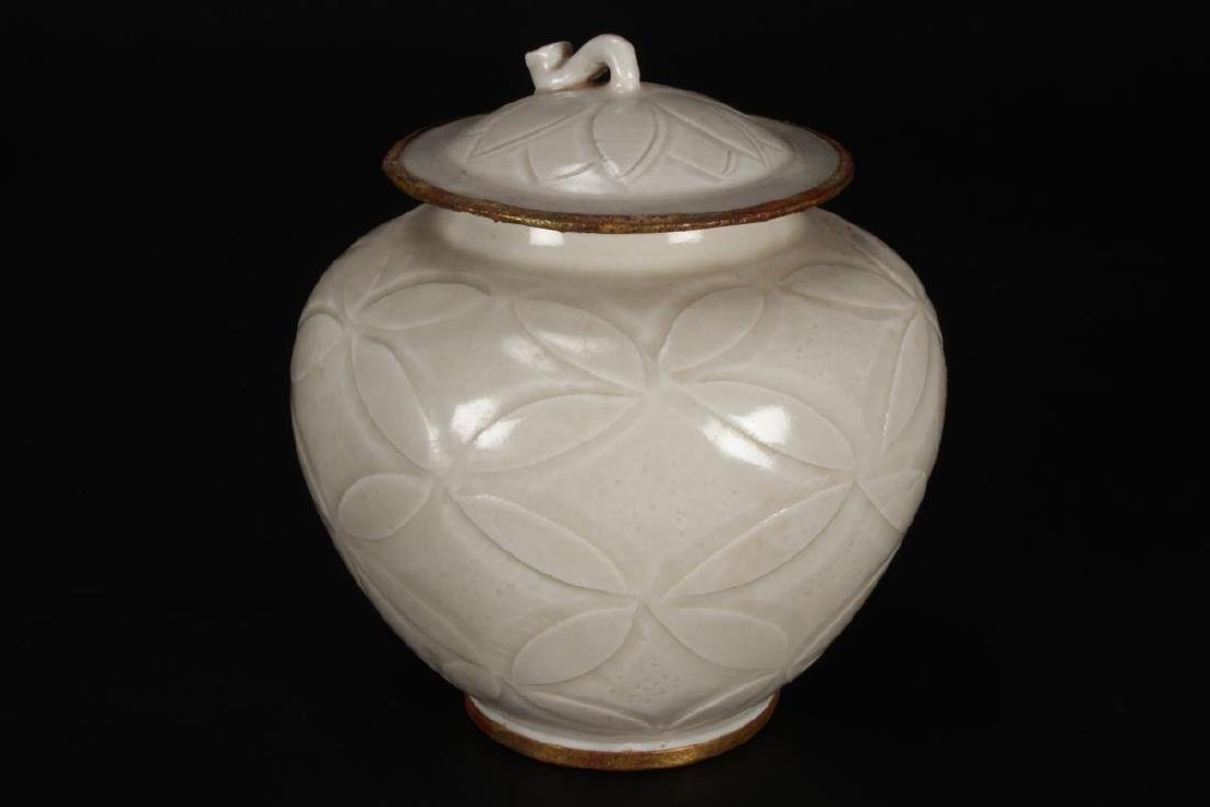 Chinese Qingbai Porcelain Jar and Cover, - 2