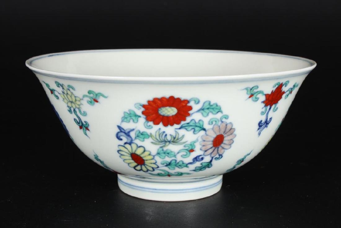 Chinese Doucai Porcelain Bowl,