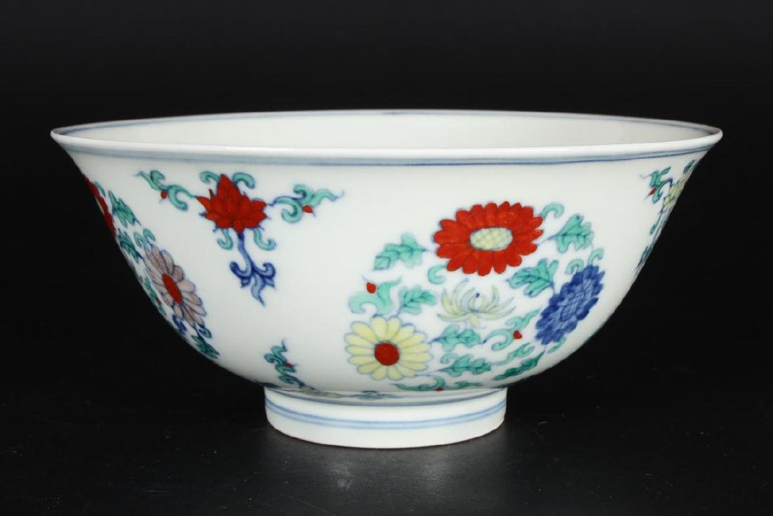 Chinese Doucai Porcelain Bowl, - 2