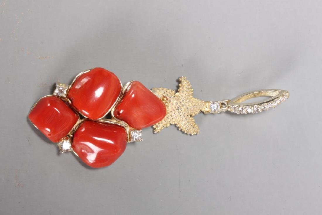 Coral Pendant,