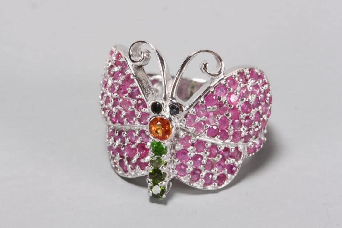 Silver Butterfly Ring,