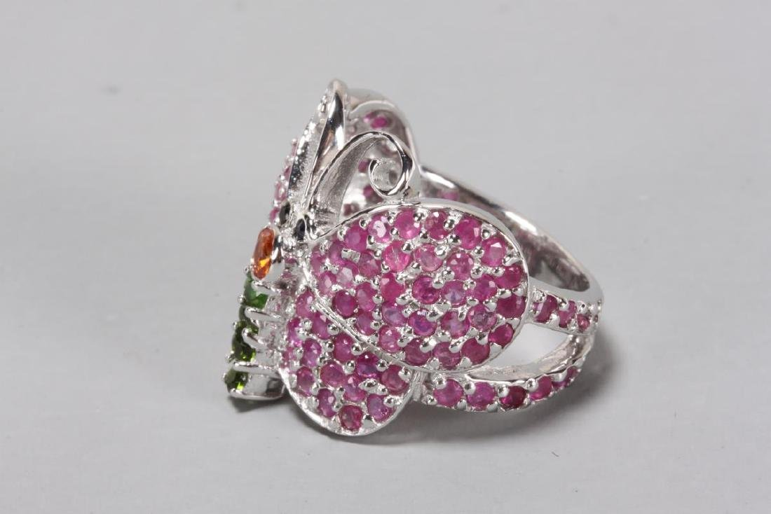 Silver Butterfly Ring, - 2