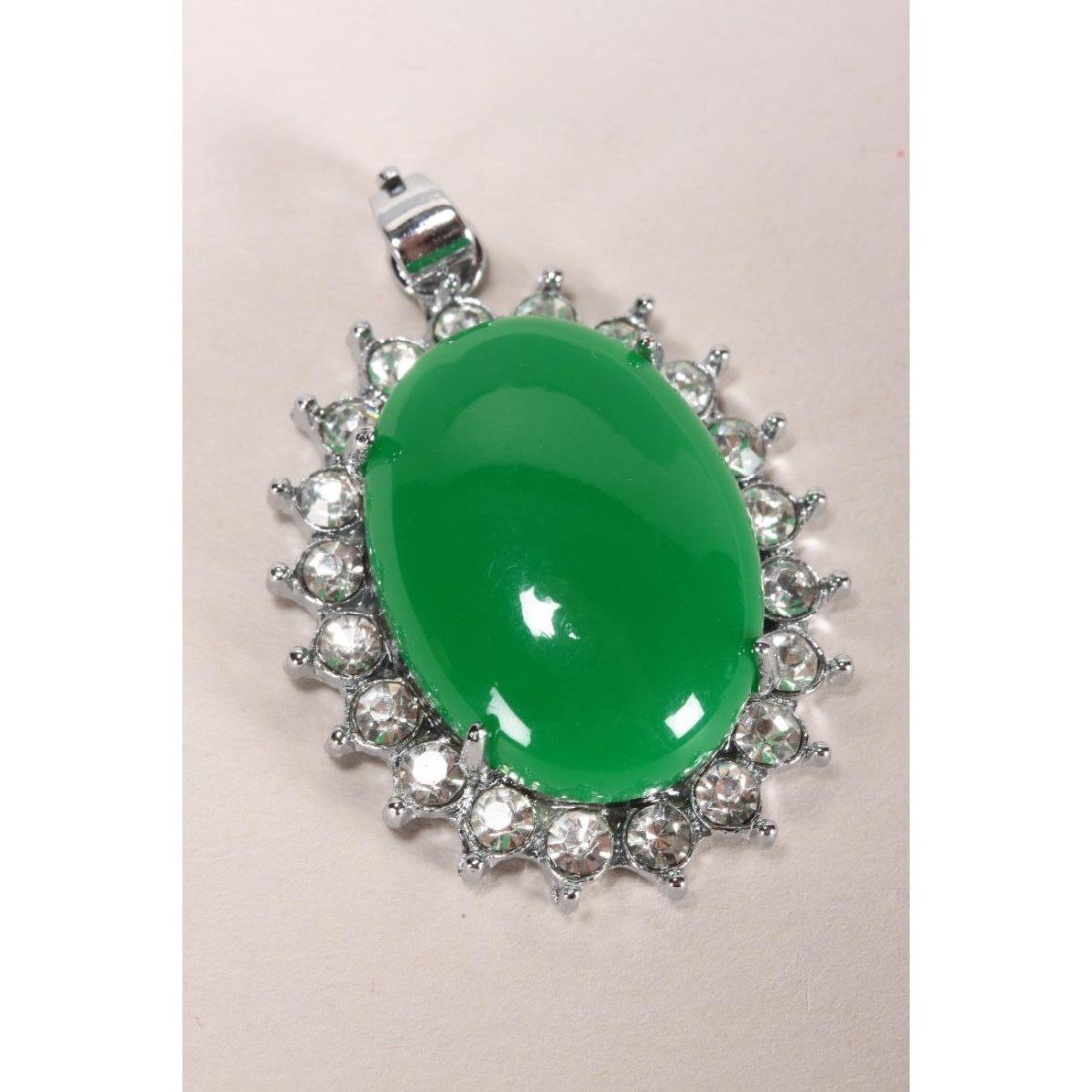 Chinese Green Hardstone Pendant,