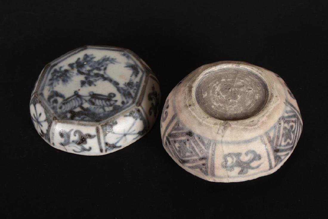 Chinese Yuan Dynasty Blue and White Box and Cover, - 2