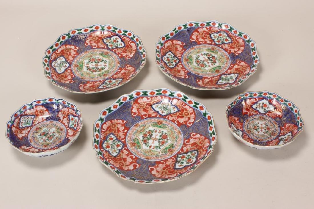 Three Late 19th Century Japanese Imari Dishes,