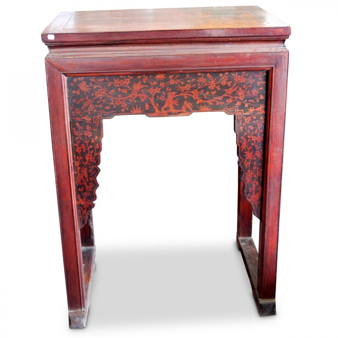 Chinese Red Lacquer High Altar Table,