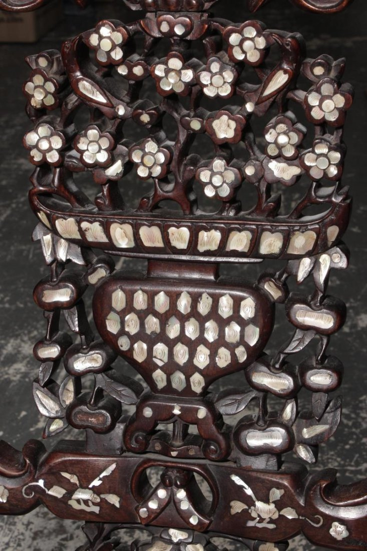 Chinese Carved Rosewood and Mother of Pearl - 3