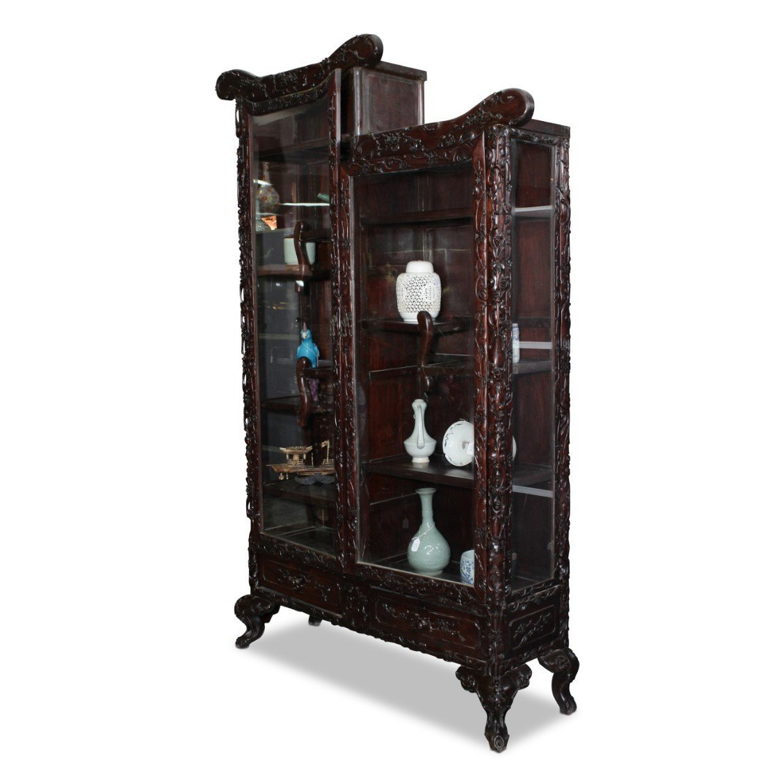 Large Chinese Two Door Display Cabinet,