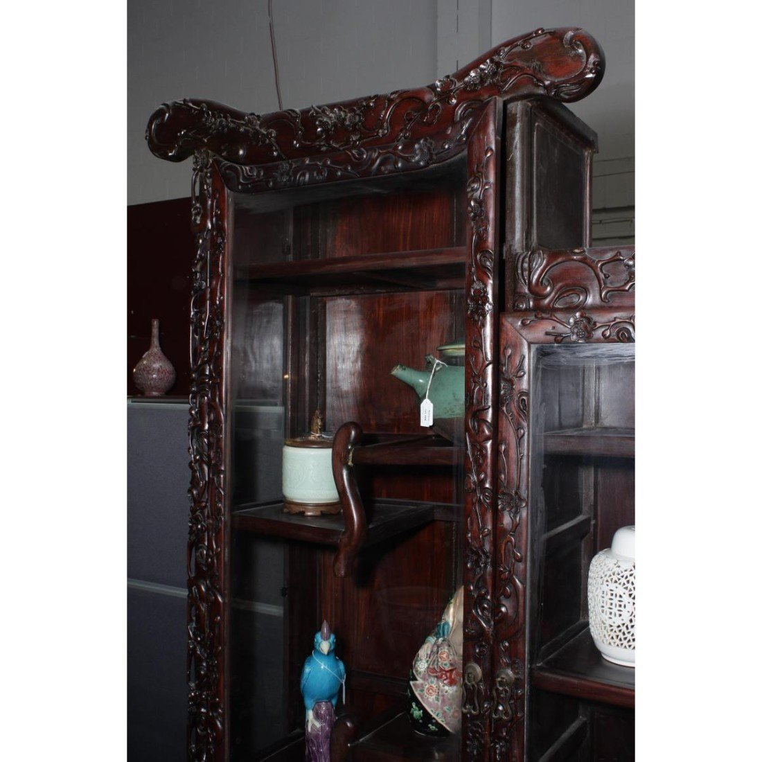 Large Chinese Two Door Display Cabinet, - 2