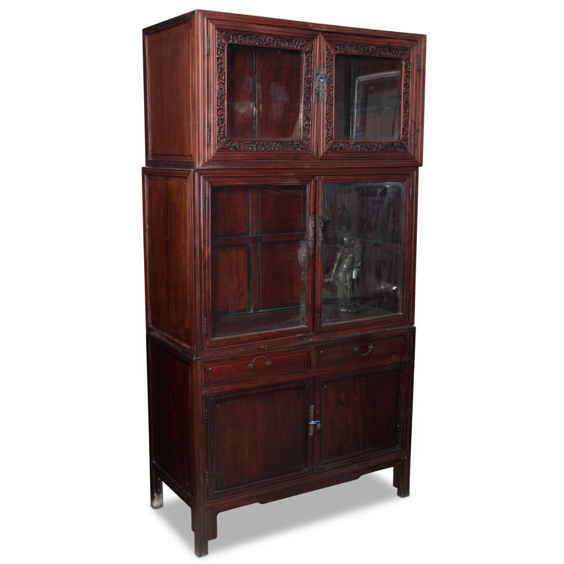 Chinese Three Sectioned Display Cabinet,