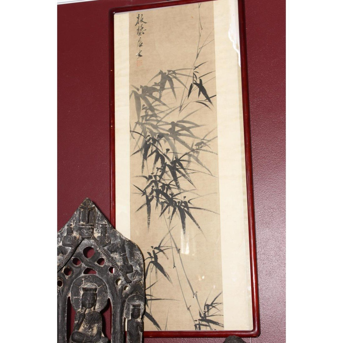 Framed Chinese Scroll,
