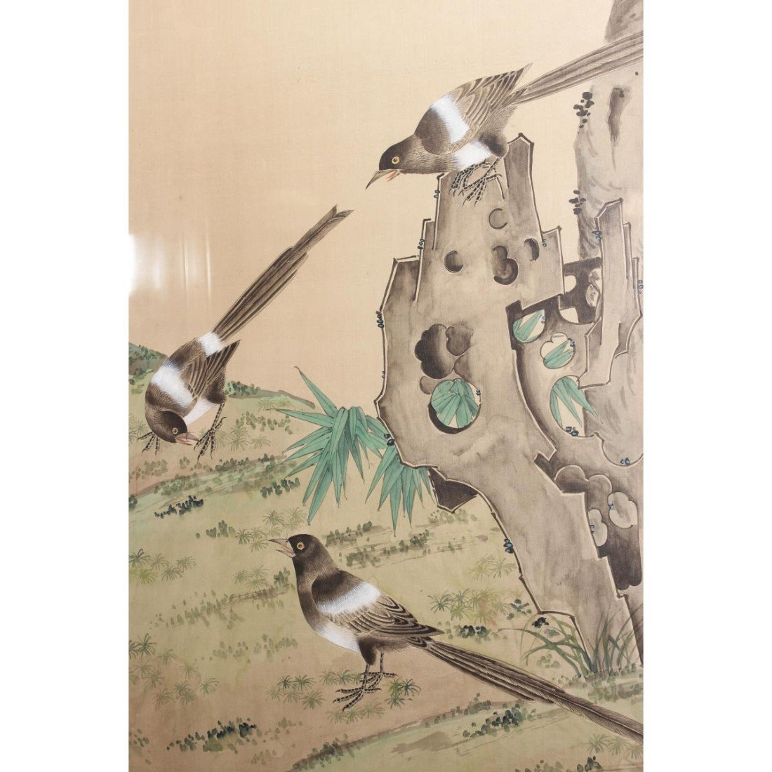 Chinese Framed Silk Painting, - 3