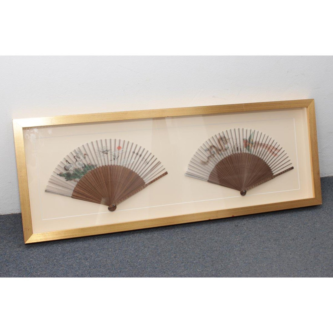 Pair of Framed Chinese Fans,