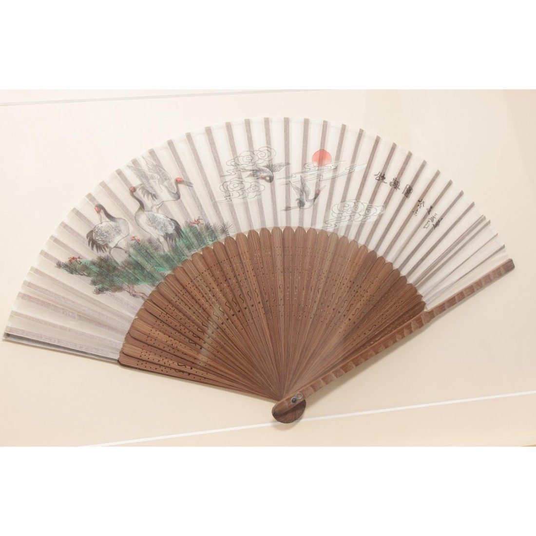 Pair of Framed Chinese Fans, - 3