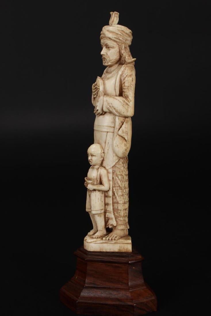 Two Indian Carved Figures, - 3