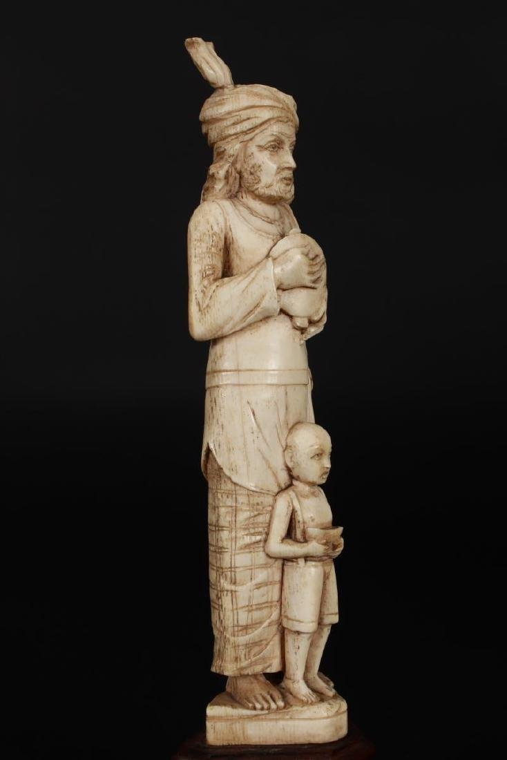 Two Indian Carved Figures, - 5