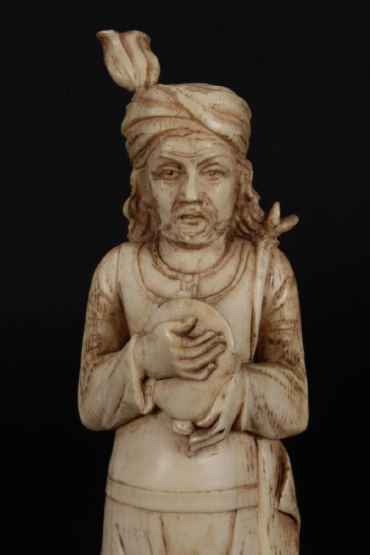 Two Indian Carved Figures, - 6