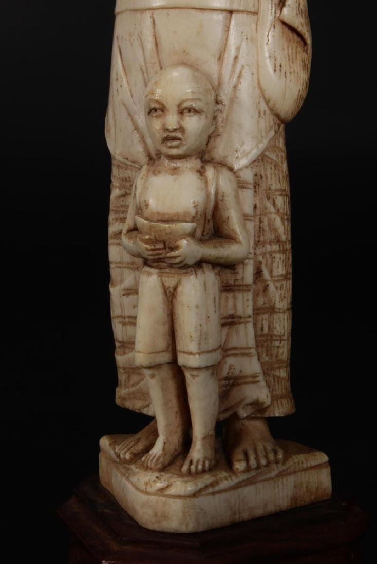 Two Indian Carved Figures, - 7