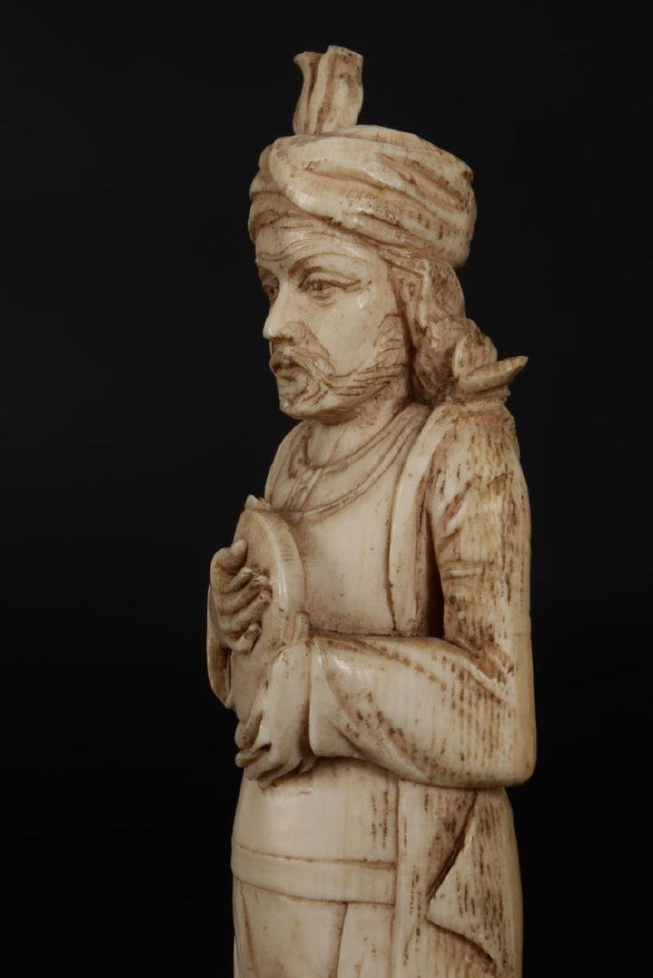 Two Indian Carved Figures, - 8