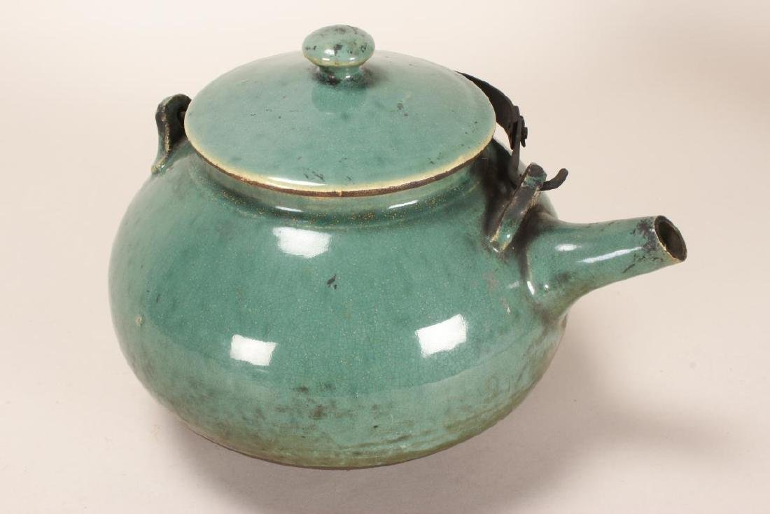 Chinese Baluster Form Teapot,
