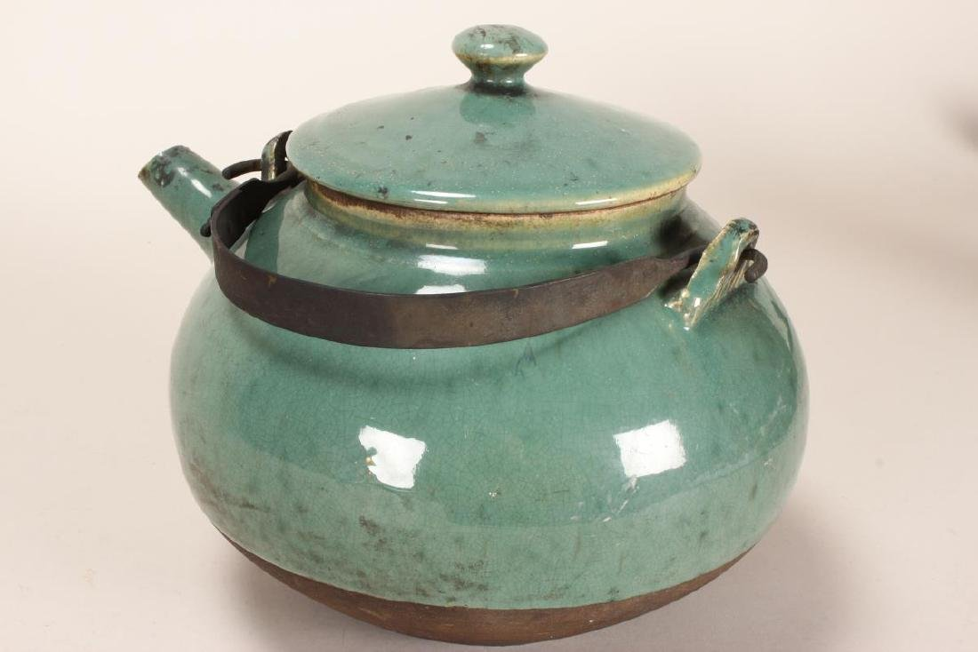 Chinese Baluster Form Teapot, - 2