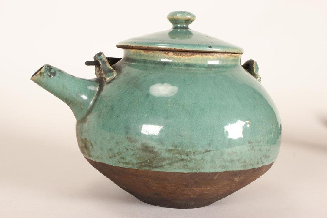 Chinese Baluster Form Teapot, - 3