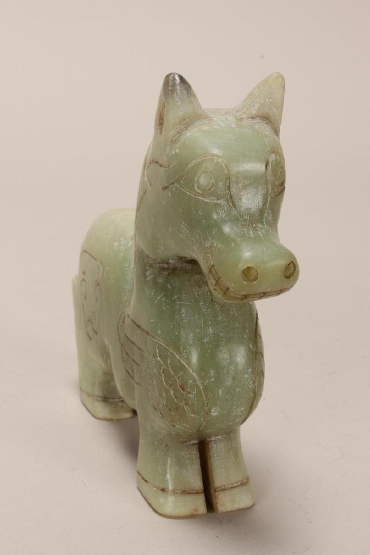 Chinese Carved Hardstone Horse, - 5