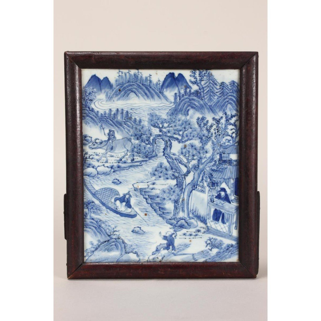 Chinese Blue and White Porcelain Tile,
