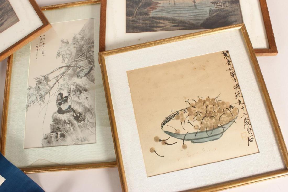 Four Framed Chinese Artworks, - 2