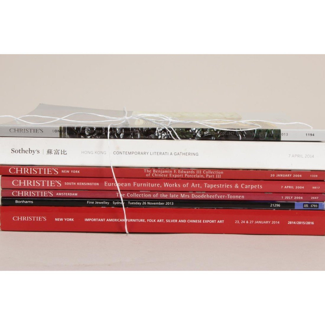 Assorted Christies and Sothebys Auction Catalogues