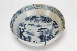 Chinese Qing Dynasty Blue and White Porcelain Bowl