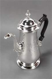 Lovely George II Sterling Silver Coffee Pot,