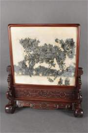 Large Chinese Dali Marble Table Screen,