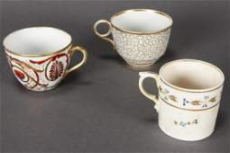 Three 18th Century English Porcelain Cups,