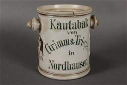 German Stoneware Tobacco Jar