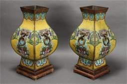 Wonderful Pair of Large Chinese Cloisonne Vases,