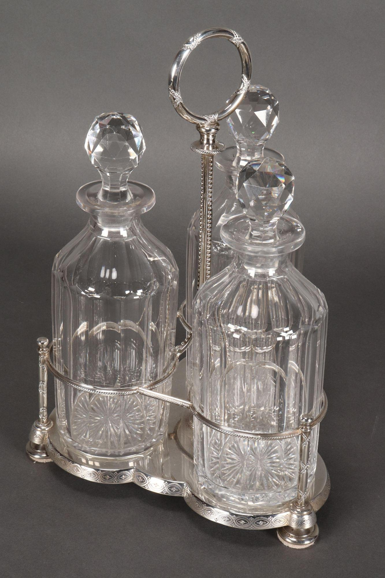 Victorian Sterling Silver Tantalus,