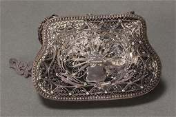 Russian Silver Filigree Purse