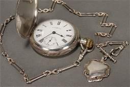 Victorian Sterling Silver Pocket Watch